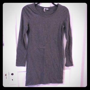 H&M Divided gray long-sleeve midi bodycon dress⬇️